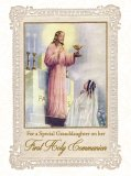 For a Special Granddaughter on her First Holy Communion - Greeting Card