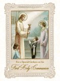For a Special Godson on his First Holy Communion - Greeting Card