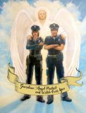 """Guardian Angel Protect and Watch Over You"" - Police Officer Greeting Card"