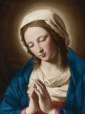 Madonna in Prayer - Mass Card for the Living