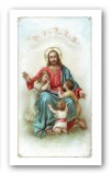 Prayer to Jesus the Friend of Children Laminated Holy Card