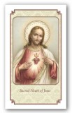 Prayer to the Sacred Heart of Jesus Holy Card Laminated
