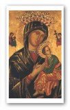 Our Lady of Perpetual Help Prayer Holy Card Laminated