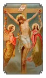 Crucifixion Holy Card Laminated