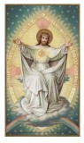 Risen Savior Holy Card Laminated