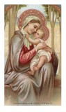 Blessed Virgin with Infant Jesus Holy Card Laminated