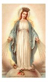 Our Lady of Grace Holy Card Laminated