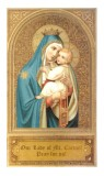 Our Lady of Mt. Carmel Holy Card Laminated