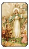 Mary with Children Holy Card