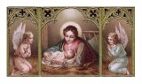 Nativity with Angels Holy Card No Prayer