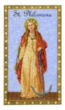 St. Philomena Holy Card with Prayer Laminated