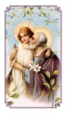 Prayer to St. Joseph Holy Card Laminated