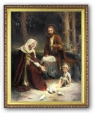 Holy Family with Birds 8x10 Framed Picture