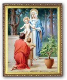 Holy Family w/ St. John the Baptist 8x10 Framed Picture