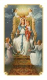 August Queen Holy Card with Prayer Laminated