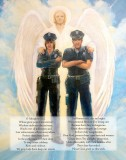 "Prayer for Police Officers Print - 11""x14"""