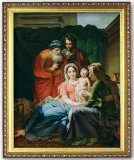 Holy Family - Print with Gold Frame