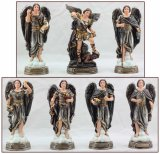 "7 Piece 8"" Archangel Statue Set"