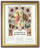 In Remembrance of Thy Holy Sacraments Certificate - 3-in-1