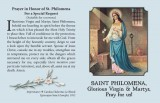 St Philomena Prayer Card - Pack of 100