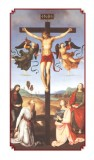 Jesus, Through Thy Precious Blood, Peace Bestow Holy Card - Laminated