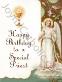 Happy Birthday to a Special Priest - Greeting Card