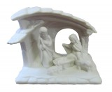 White Bisque Procelain Nativity Scene