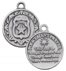 Policeman's Prayer Keychain