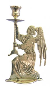 Kneeling Angel Candlestick Holder