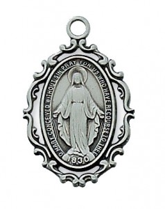 Antique Silver Miraculous Medal