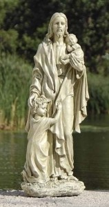 "Jesus with Children 24"" Outdoor Statue"