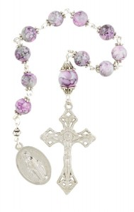 Pink Marble 1 Decade Rosary