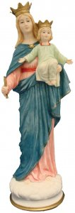 Our Lady of Mercy Italian Statue - Crushed Marble 15""