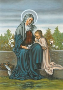 St Anne with Child Mary Pack of 10