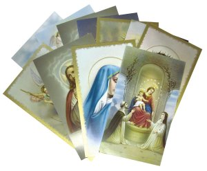 Variety Pack of Holy Cards - Blank on Reverse