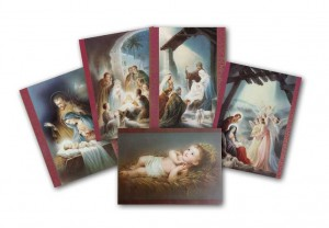 Pack of 10 Assorted Christmas Postcards