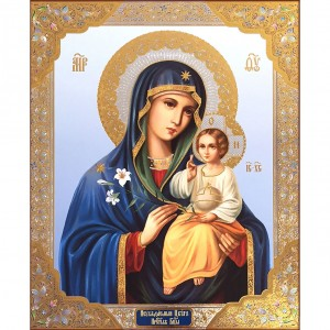 Eternal Bloom Madonna & Child Gold Foil Russian Icon