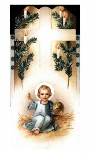 Child Jesus in Hay Holy Card