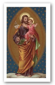 Prayer to St. Joseph for Purity Holy Card Laminated