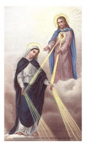 Mary of the Sacred Heart Holy Card Laminated