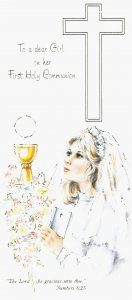 To a dear Girl on her First Holy Communion Greeting Card