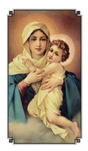 Our Lady Refuge of Sinners Holy Card with Prayer Laminated