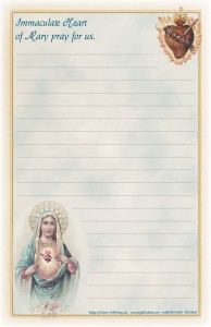Immaculate Heart Notepad