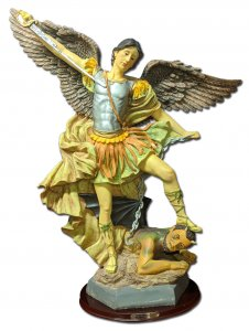 "St. Michael Statue 24"" - Repaired"