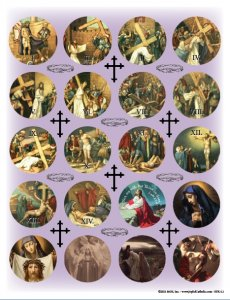 Stations of the Cross Stickers
