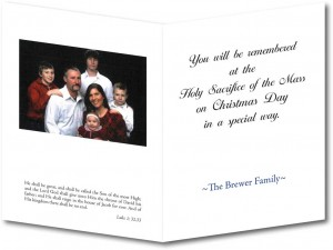 Christmas Mass Remembrance Greeting Card