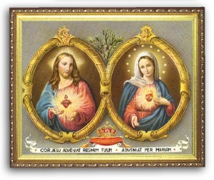 Sacred & Immaculate Heart 8x10 Framed Picture