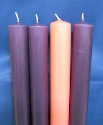 "Advent Candles - 51% - 1-1/2"" x 15"""