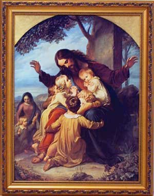 Jesus with Children Framed Picture