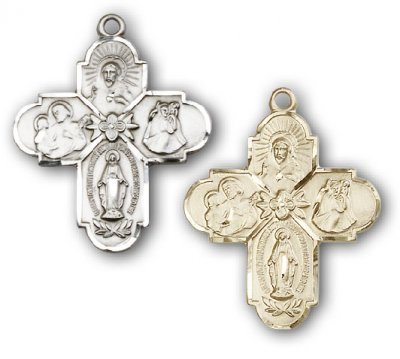 Large 4-Way Scapular Medal